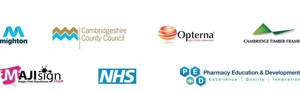 Client Logos: NHS; Mighton; NHS; Pharmacy Education & Development