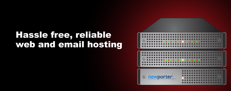 Rack server image - Hastle free, reliable web and email hosting